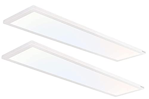 Hykolity 1x4 FT LED Flat Panel Selectable CCT Flush Mount...