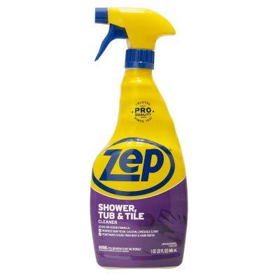 Zep Shower Tub and Tile Cleaner, clear, 32 Fl Oz