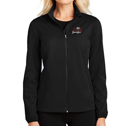 Why Not Stop N Shop Personalized RN Nurse Full Zip Jacket...