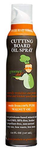 Greener Chef Food Grade Cutting Board Oil Spray and Butcher...