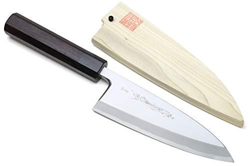 Yoshihiro Hongasumi Blue Steel #2 Deba Fish Fillet Knife (6'...