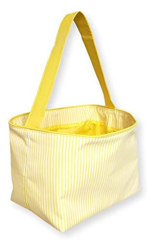 Custom Personalized MIni Stripe Fabric Bucket Basket Tote...