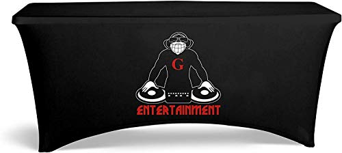 UNIQ SIGNS 6 feet Personalized Table Cloth with Logo, Event...