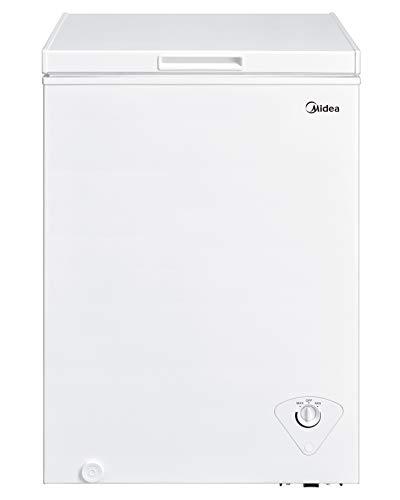 Midea MRC04M3AWW Single Door Chest Freezer, 3.5 Cubic Feet,...