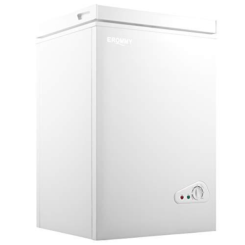 EROMMY Chest Freezer, 3.5 Cubic Feet Small Deep Freezer,...