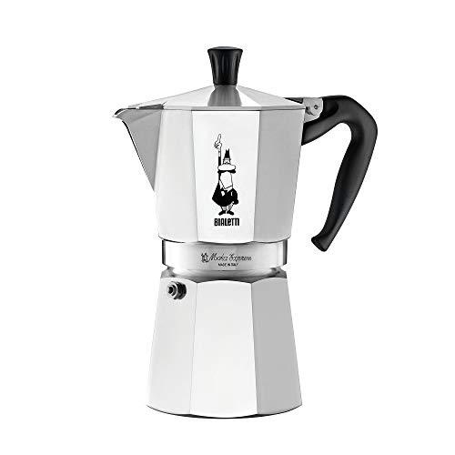 Bialetti Express Moka Pot, 9-Cup, Aluminum Silver