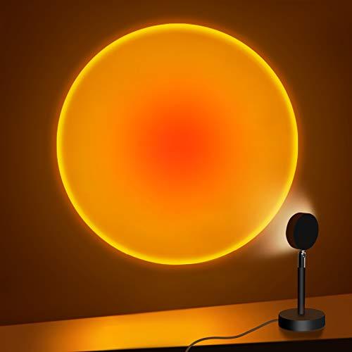 Sunset Projection Lamp, 180 Degree Rotation Rainbow...