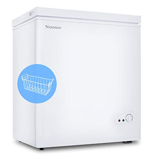 Nictemaw Chest Freezer, 5.3 Cu.Ft Large Capacity with...
