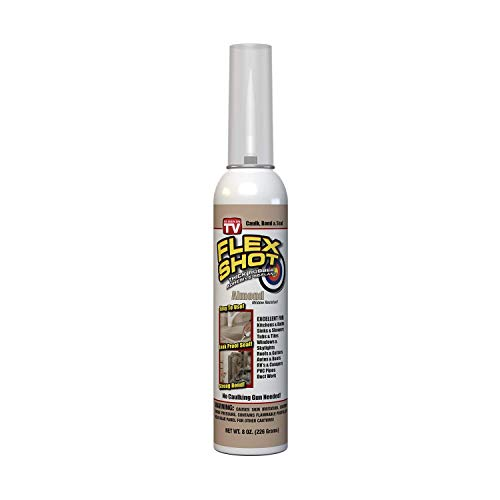 Flex Shot Rubber Adhesive Sealant Caulk, 8-oz, Almond...