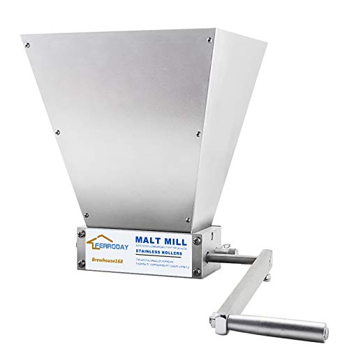 FERRODAY 2 Roller Crusher Stainless Steel Crusher Malt Mill...