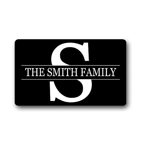 The Smith Family Name/Text Personalized Custom Gift Black -...