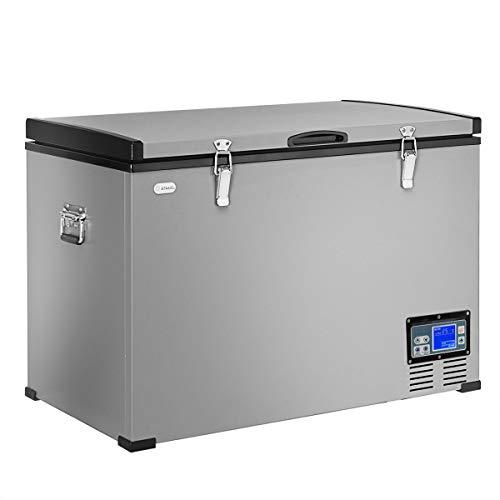 COSTWAY Chest Freezer, 100-Quart Compressor Travel Car...