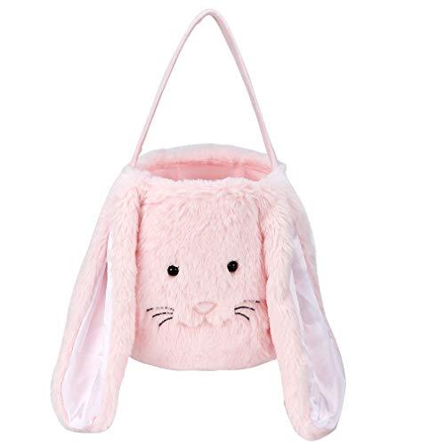 Plush Easter Bunny Basket for Kids Boys Girls Easter Buckets...
