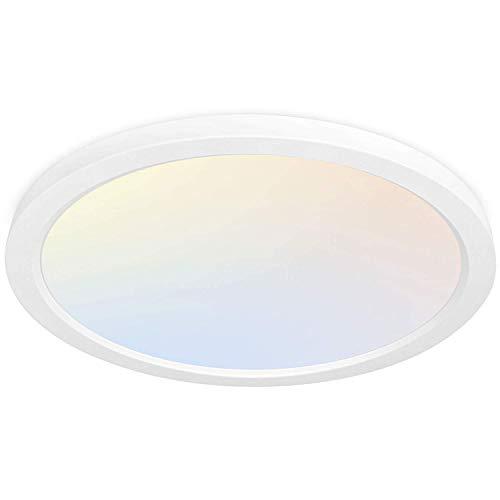 Hykolity 13 Inch LED Round Flat Panel Light, 24W 2400lm...
