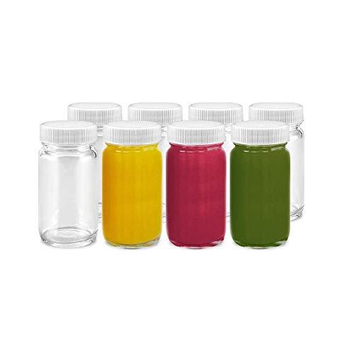 Juice Shot Bottles Set - Wide Mouth for Juicing, Beverage...