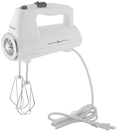 Cuisinart CHM-3 Electronic Hand Mixer 3-Speed, White...