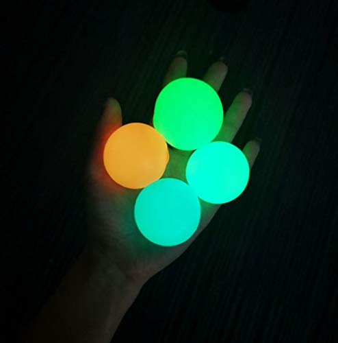 Luminous Stress Relief Ball Sticky Ball (4-Pack), Fun Toy...