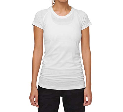 Lululemon Athletica Swiftly Tech Short Sleeve Crew (White,6)