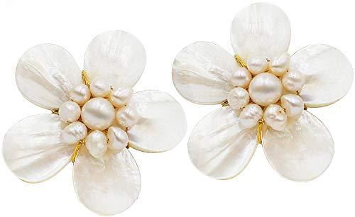 Bijoux De Ja Handmade White Shell Pearl Pollen and Mother of...