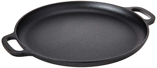 "Home-Complete Cast Iron Pizza Pan-14"" Skillet for Cooking,..."