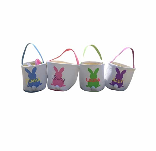 Personalized Easter Basket for Kids, embroidered Pink Girls...