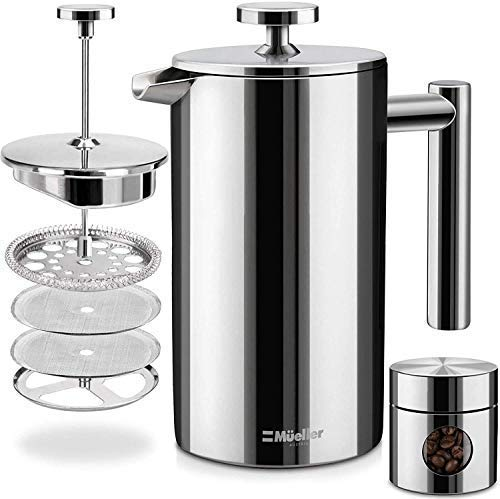 Mueller French Press Double Insulated 304 Stainless Steel...