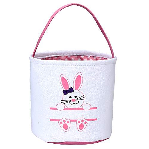 Easter Bunny Basket Easter Bucket for Boys Girls Easter Gift...