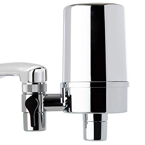 iSpring DF2-CHR Faucet Water Filter for Kitchen, Bathroom,...