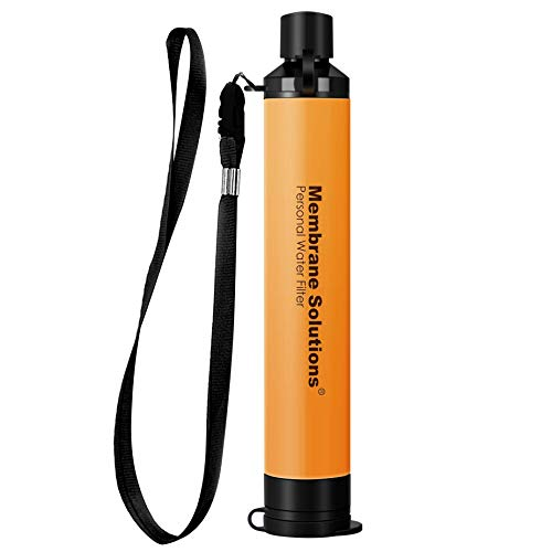 Membrane Solutions Personal Water Filter Straw, Portable...