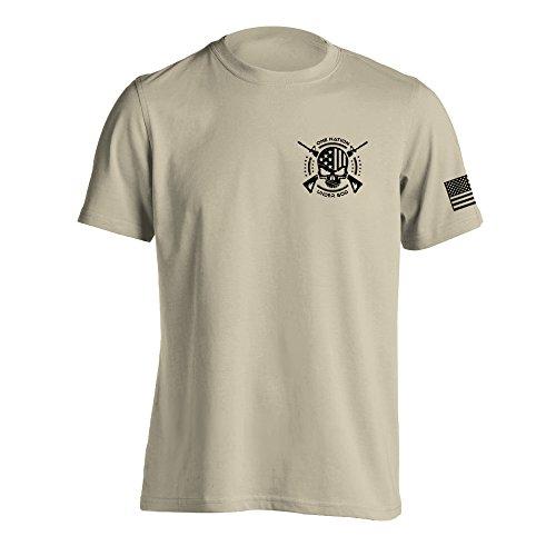 One Nation Under God Military T-Shirt Large Sand