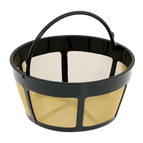 NRP Basket Mesh Bottom Gold-tone Coffee Permanent Filter...