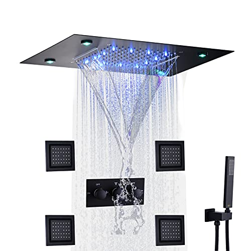 DULABRAHE Waterfall And Rain Shower System Faucet Set 14 X...