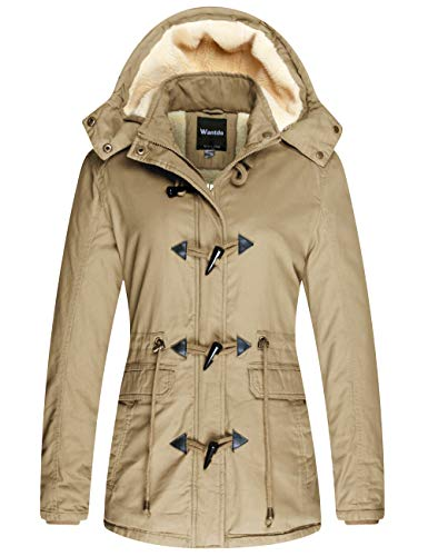 Wantdo Women's Winter Windbreaker Cotton Jacket with Hood,...
