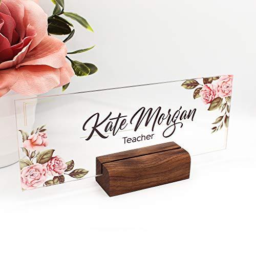 Personalized Desk Name Plate Plaque | Unique Gift | Wood...