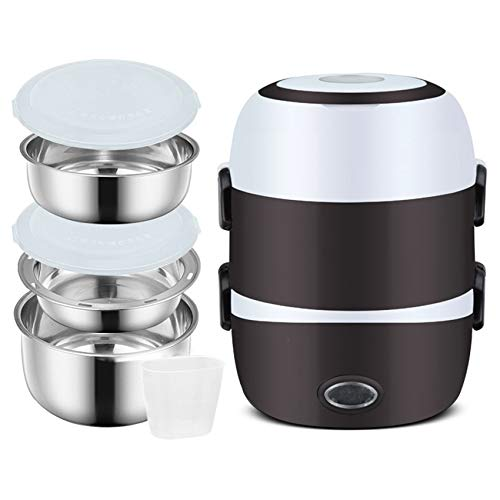 3 Layers Electric Warmer Lunch Box Food Heater Portable...