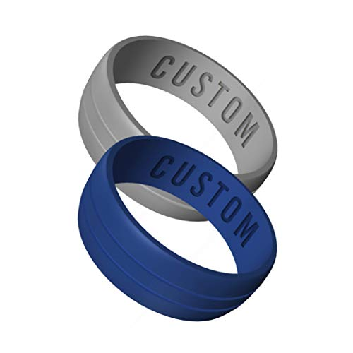 Wildfire Ring Personalized Silicone Wedding Ring Engagement...