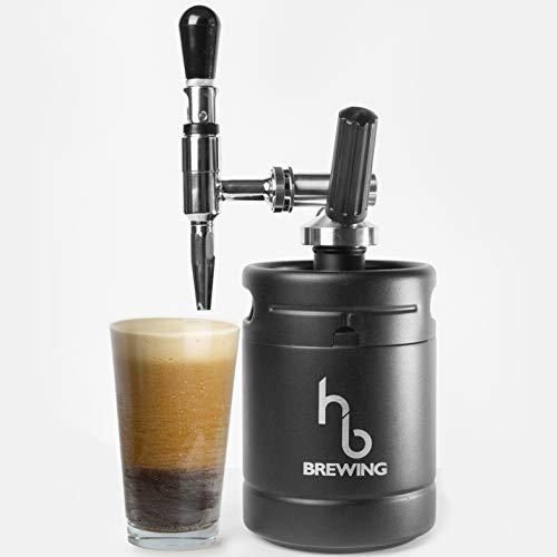 HB Brewing Nitro Cold Brew Coffee Maker – At Home Mini Keg...