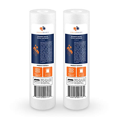 Aquaboon 2-Pack of 5 Micron 10' Sediment Water Filter...