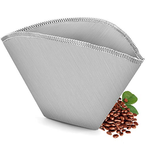 #4 Reusable Permanent Cone Coffee Filters, 8~12 Cups Coffee...