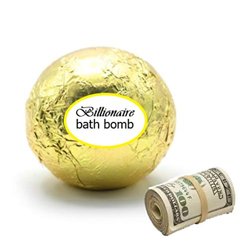The Billionaire Bath Bomb with Real Cash Money, Up to $100...