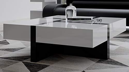 Zuri Mcintosh High Gloss Coffee Table with Storage - White...