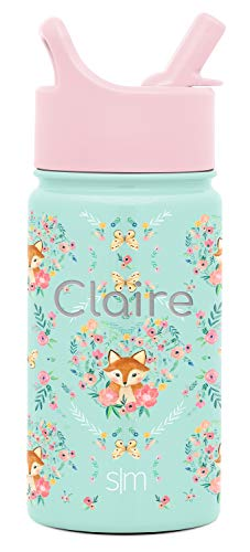 Simple Modern Personalized 14oz Kids Water Bottle Thermos...