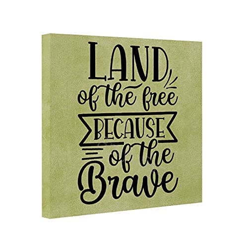 Interesting Quotes Canvas Wall Art 8x8 Inch Frameless...