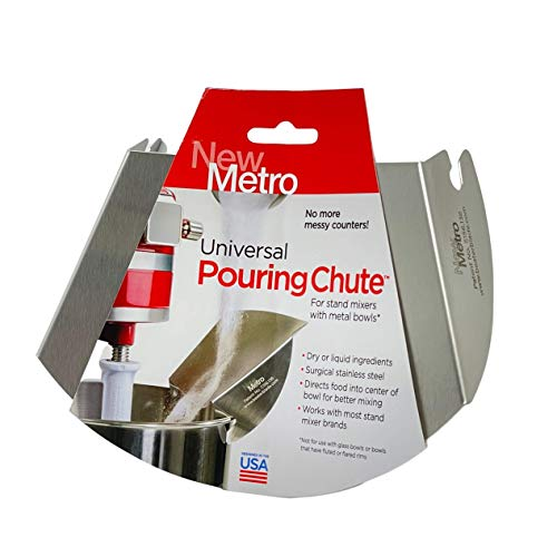 New Metro Design Universal Pouring Chute For Stand Mixer,...