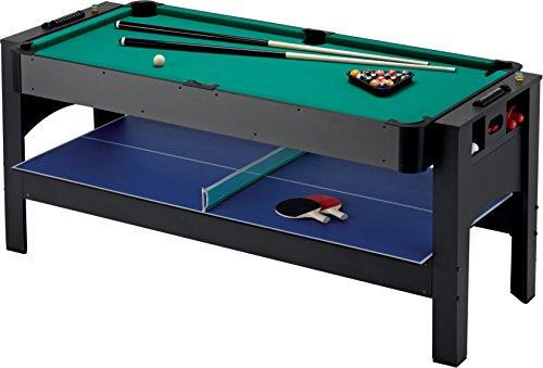 Fat Cat Original 3-in-1, 6-Foot Flip Game Table (Air Hockey,...