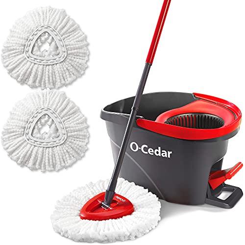 O-Cedar EasyWring Microfiber Spin Mop & Bucket Floor...