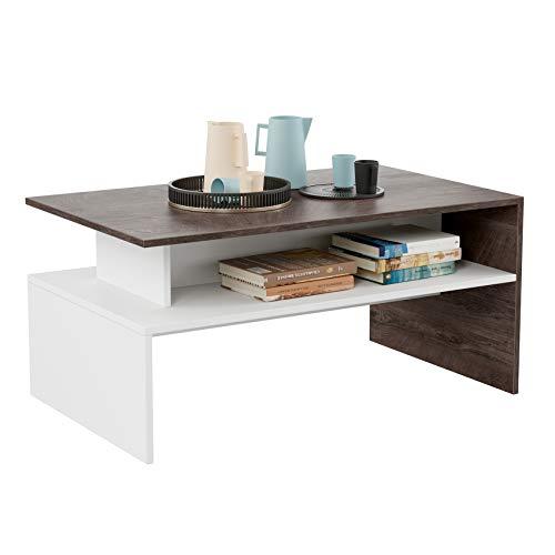 HOMFA Modern Coffee Table Center Table 2-tier, 35.4'...