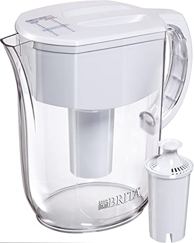 Brita Standard Everyday Water Filter Pitcher, White, Large...