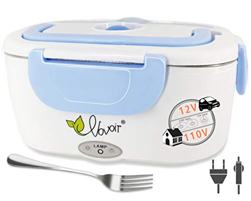 Electric Heating Lunch Box, 110V/12V 2 in 1 Portable...