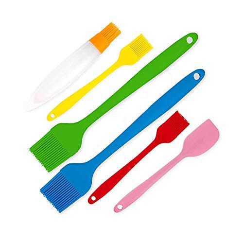 Baking Silicone Brush Set, Pack of 4 Long Handle Oil Brushes...